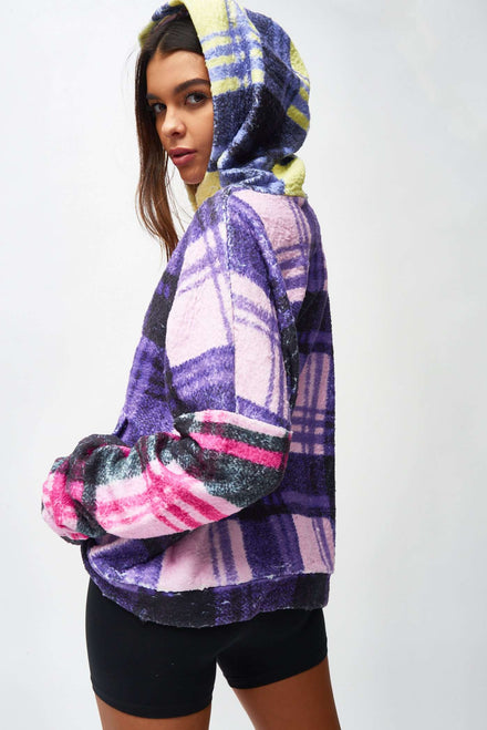 Multi Check Snuggle Hoody