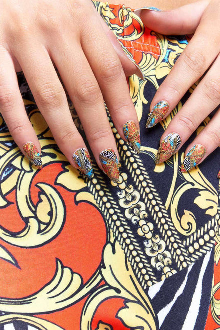 GK Nails X Jaded London Vintage Print