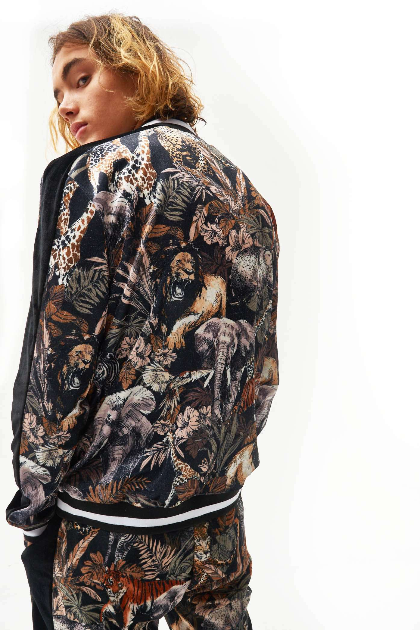 Animal Printed Velvet Tracktop