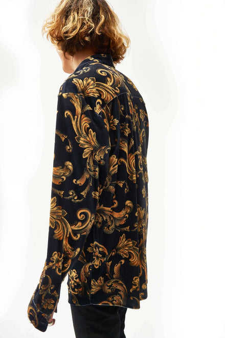 Velvet Baroque Long Sleeve Shirt