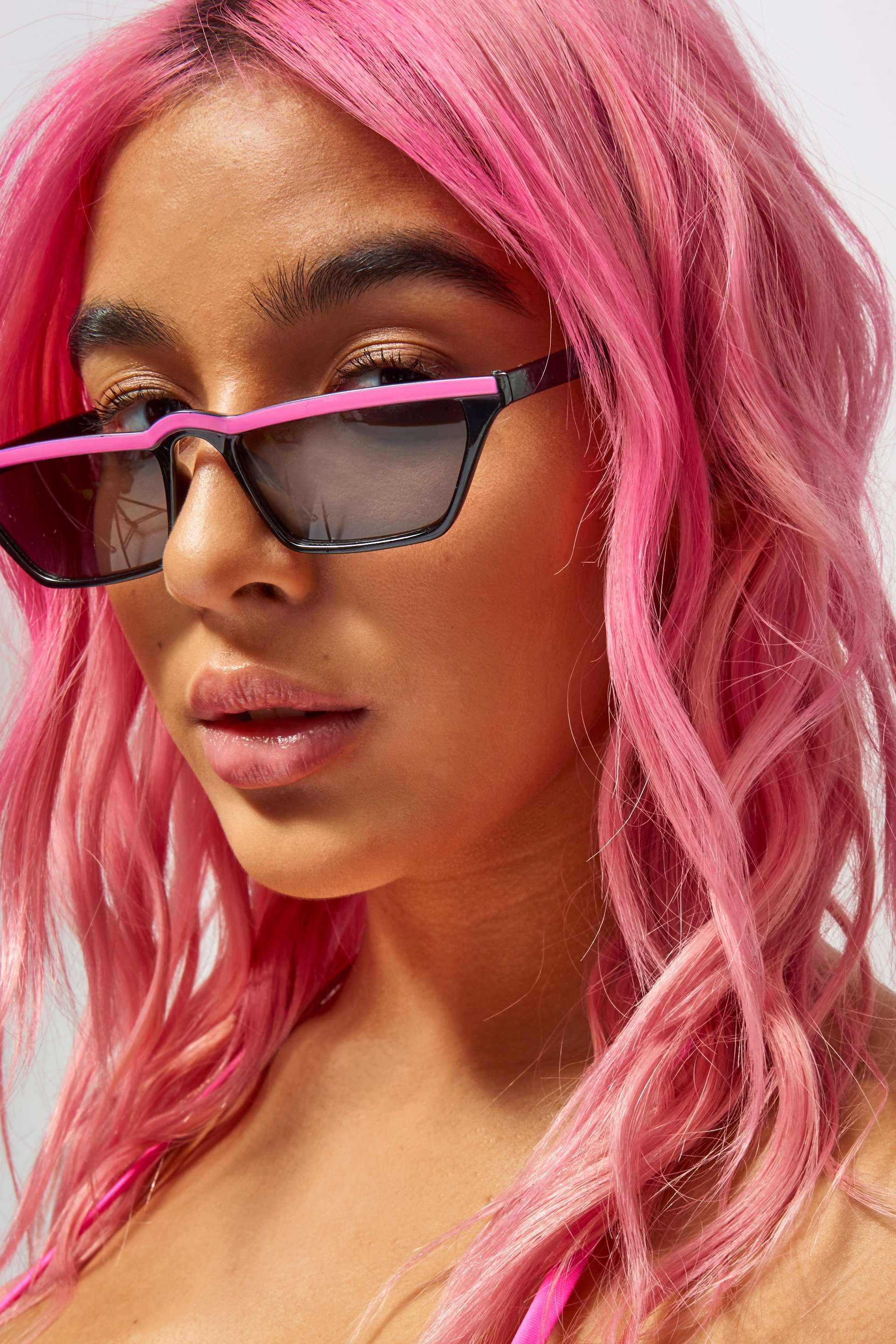 Pink Stripe Sunglasses