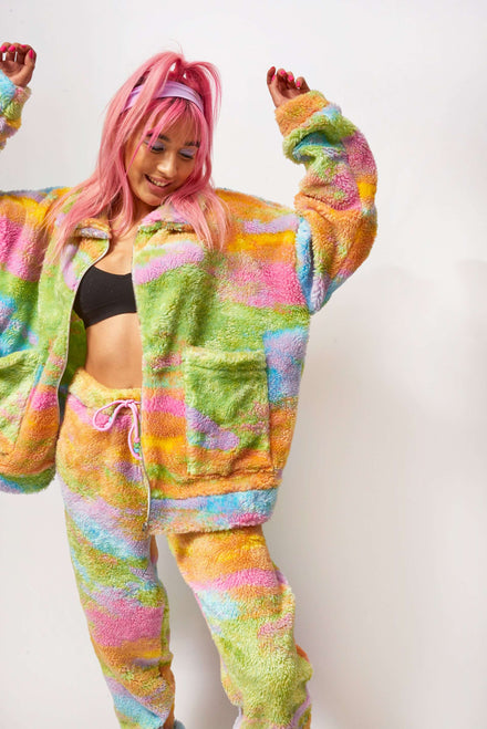 Rainbow Fleece Jacket