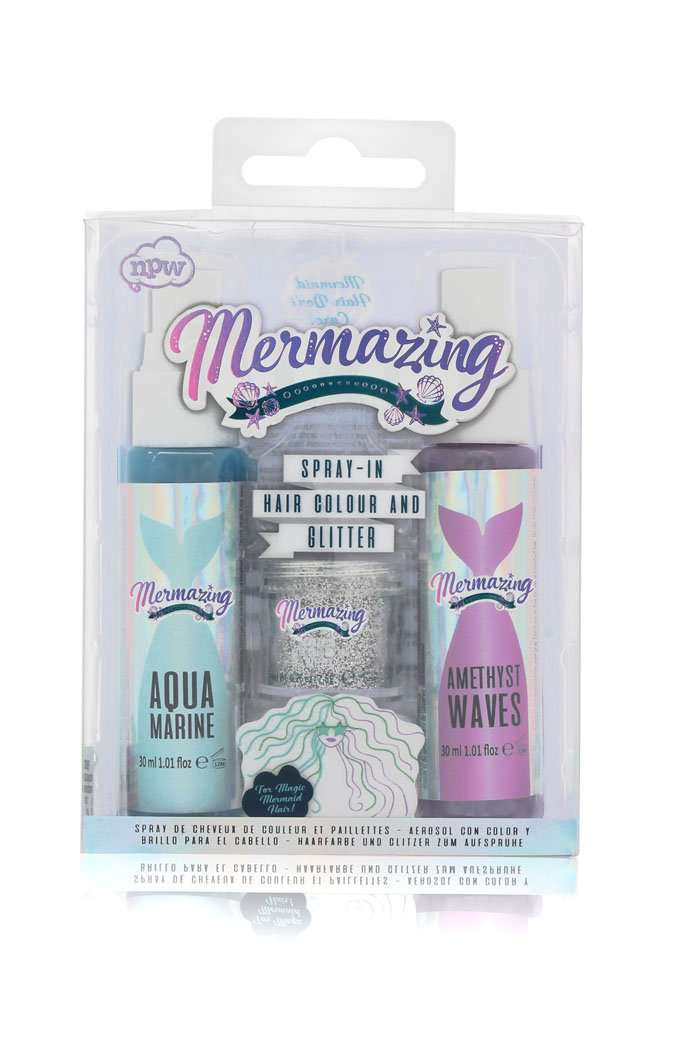 Mermaid Spray In Hair Colour & Glitter Set