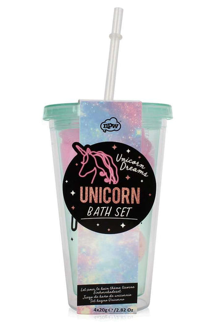 Unicorn Bath Bomb Tumbler Drink Set