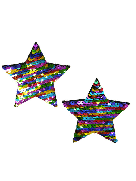 Neva Nude Flip Sequin Star Nipple Covers
