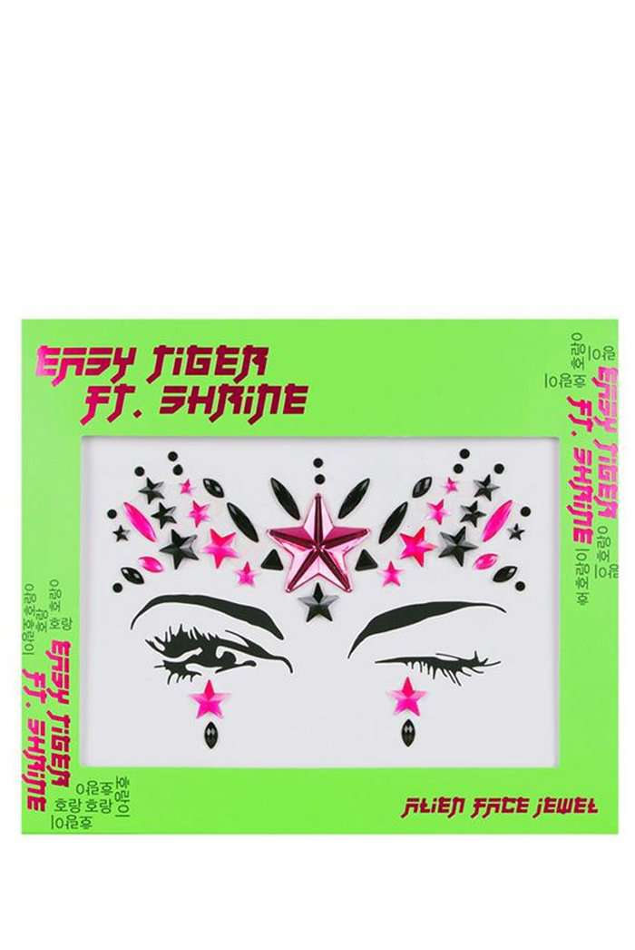The Shrine Neon Pink Alien Face Jewel