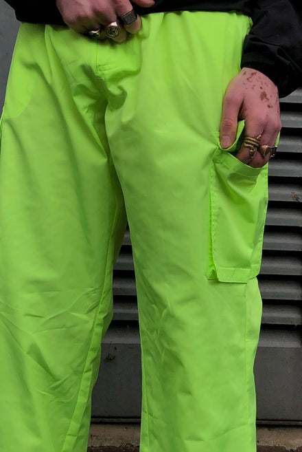 Neon Yellow Cargo Trouser