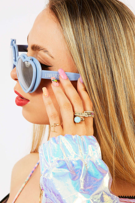 Love Specs Blue Heart Flip Glasses