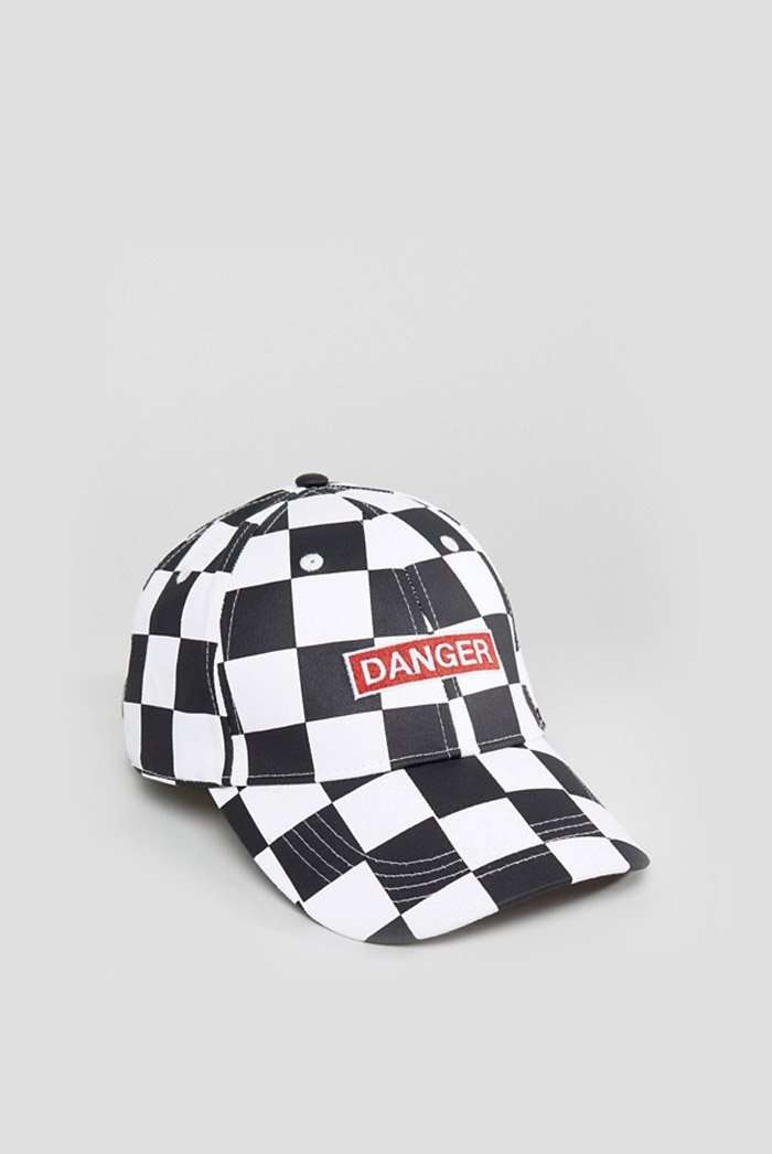 Granted Black & White Checkerboard Cap