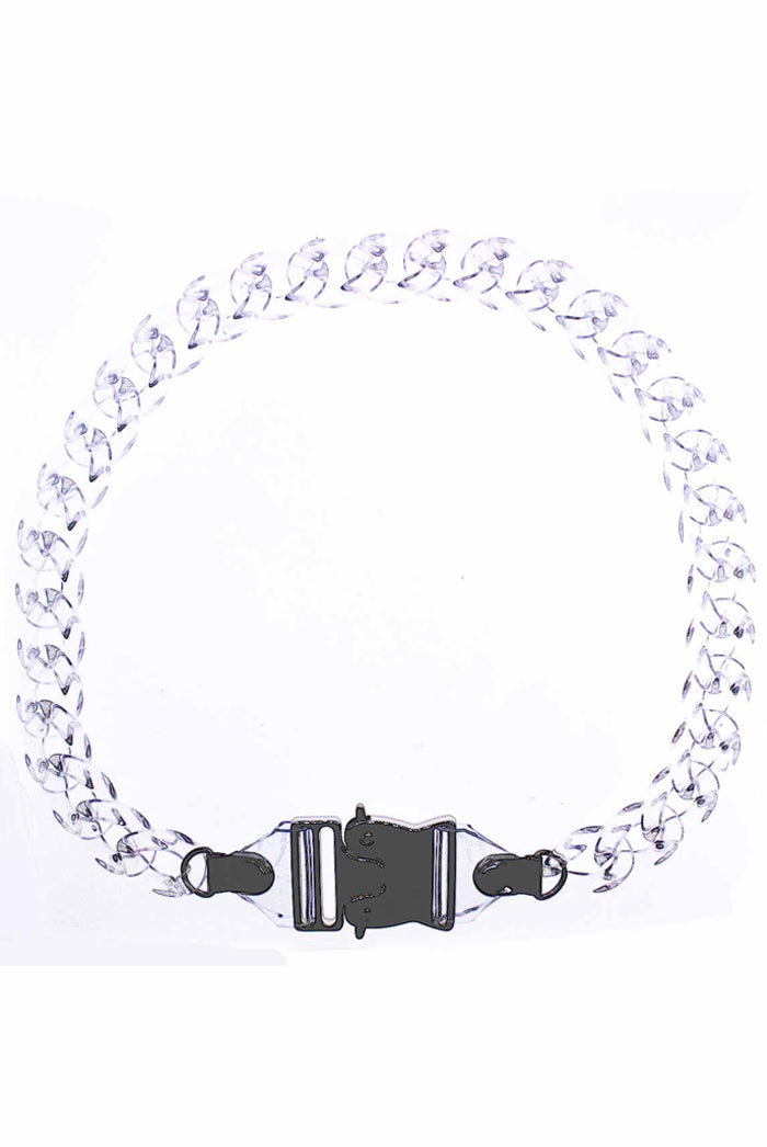 Feather Pendants Clear Buckle Chain