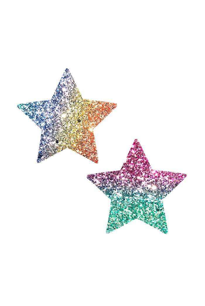 Neva Nude Multicoloured Glitter Star Nipple Covers