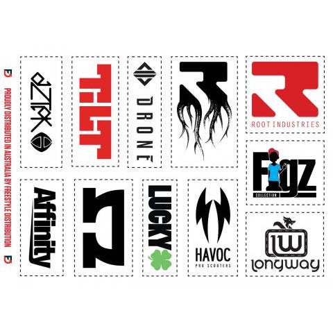 Freestyle Distribution Sticker Sheet