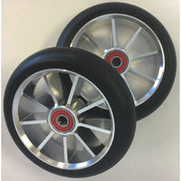 9 Spoke 120mm Wheel - Black/Silver Pair