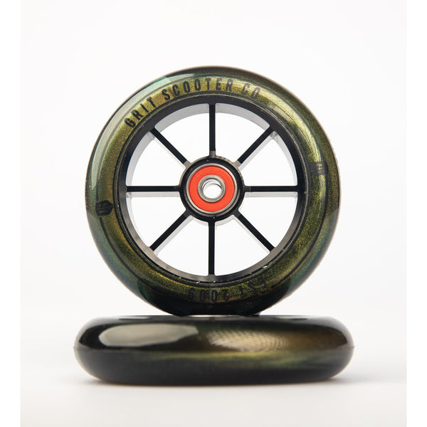 Grit 8 Spoke 100mm wheel | Gold (PAIR)
