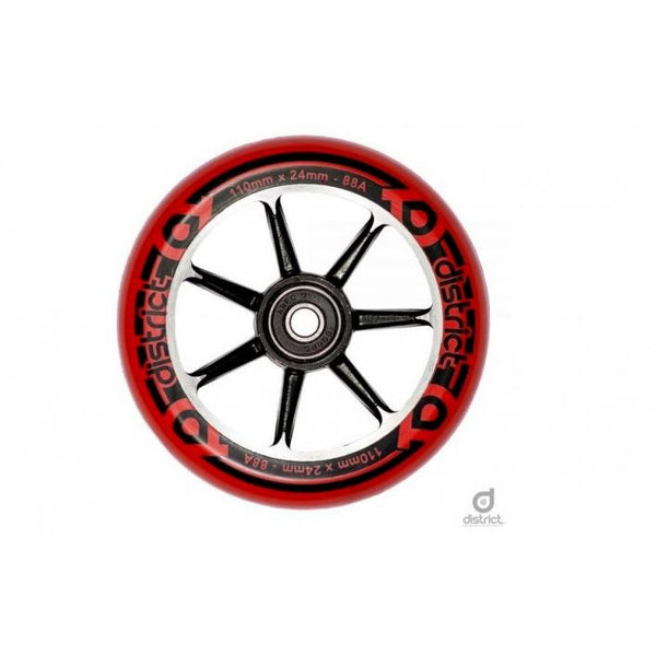 District Alloy Wheel 110mm | Red | (PAIR)