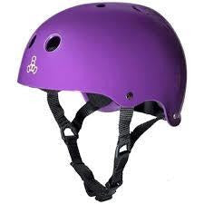Triple 8 Helmet | XS | Matte Purple / Black Liner