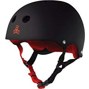 Triple 8 Helmet | S | Matte Black/Red Liner