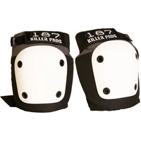 187 | Fly Knee Pads S Grey w White Caps