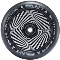 Fasen 120mm Wheel - Square Black / Black PU (individual)