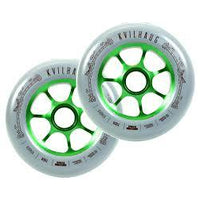 TILT Wheels | 110mm | Tom Kvilhaug Sig | Grey / Green (PAIR)