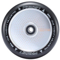 Fasen 120mm Wheel - Dot Chrome / Black PU