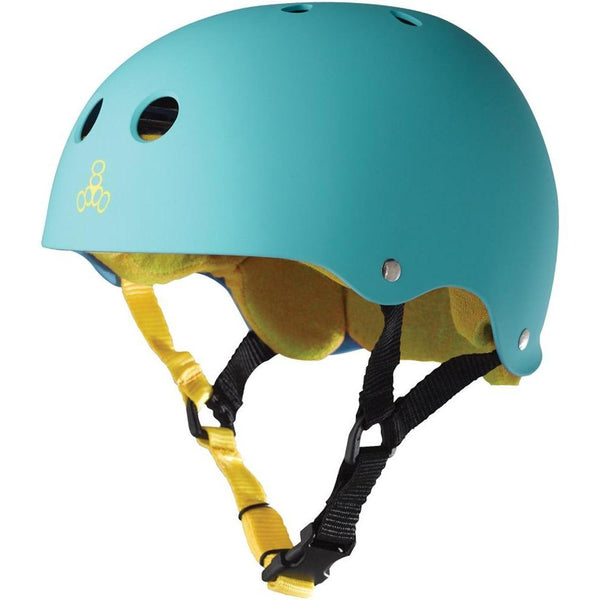 Triple 8 Helmet | S | Matte Teal / Yellow Liner