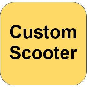 v CUSTOM SCOOTER - COMPLETE