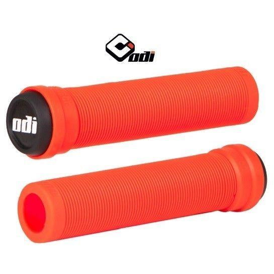 ODI BMX LONGNECK SL FLANGELESS GRIP RED SOFT COMPOUND
