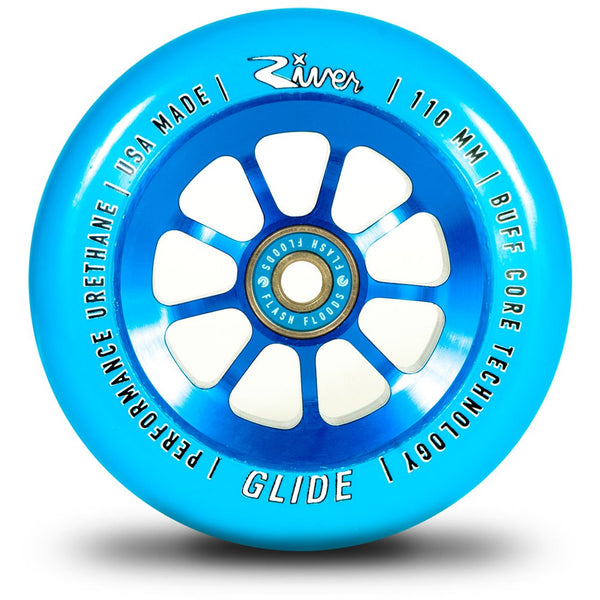 "River Wheel Co - ""Sapphire"" Glides 110mm (Blue on Blue) 