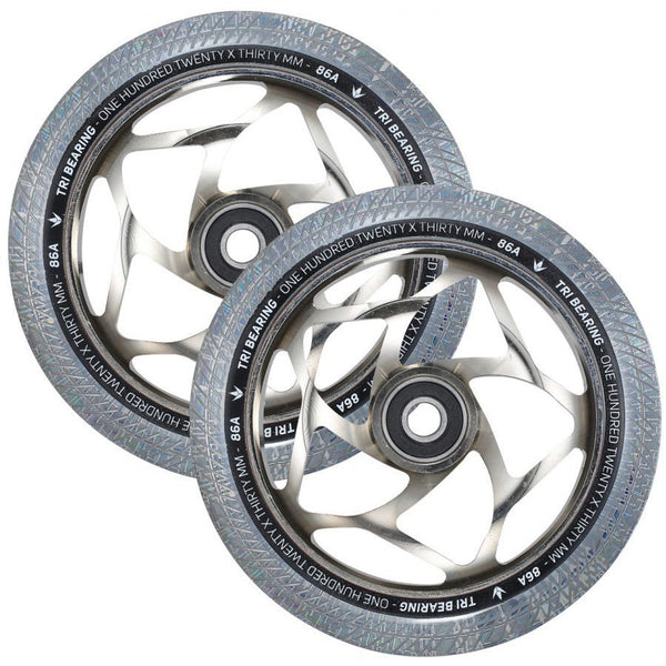 ENVY 120x30mm Tri Bearing wheel Clear/Chrome