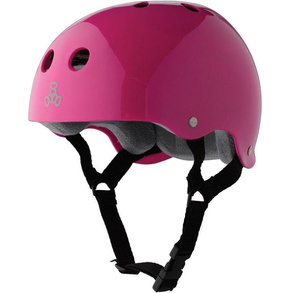 Triple 8 Helmet | S | Gloss Pink / Grey Liner