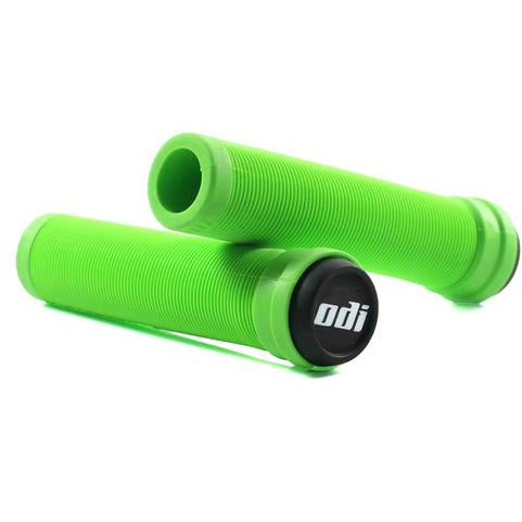 ODI BMX LONGNECK SL FLANGELESS GRIP GREEN SOFT COMPOUND
