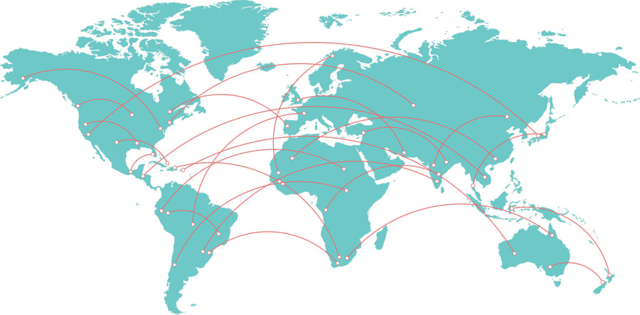 We work with a global network of collectors and processing suppliers.