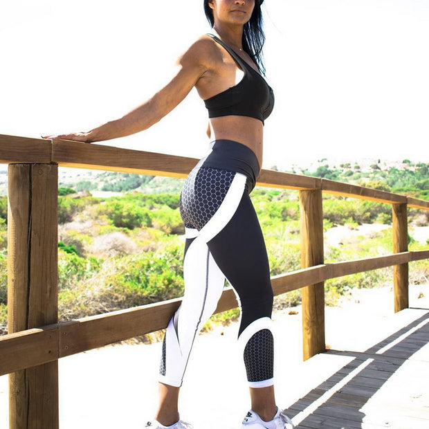 'Honeycomb' High Waisted Yoga Pants
