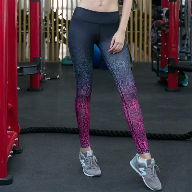 'Navasana' Womens Multi-print Yoga Leggings