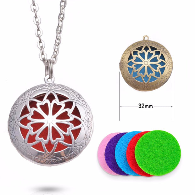 Essential Oil Diffuser Aromatherapy Focus Necklace