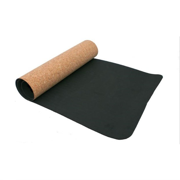 Non-slip Cork Yoga Mat (Absorbs Sweat!)