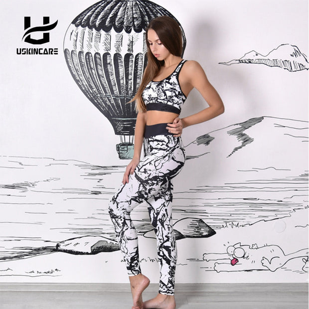 Floral Printed Yoga Tracksuit