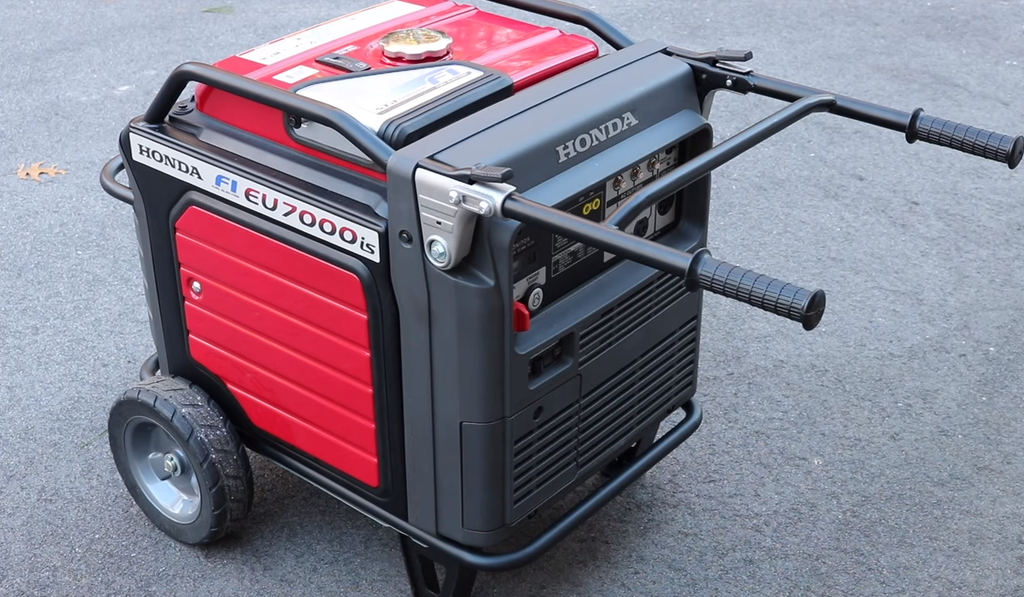 Honda 7000W generator with handles extended super quiet EU7000is