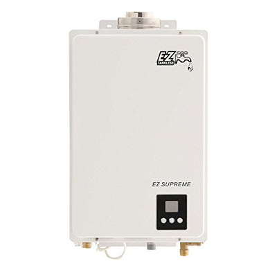 EZ Supreme Tankless Water Heater - 6.4 GPM - Propane LPG - Indoor Whole Home - Direct Vent Exhaust Included