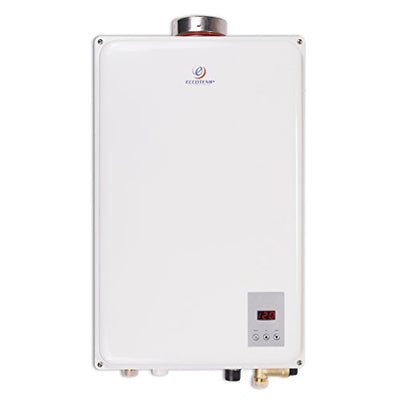 Eccotemp N45HI-NG 6.8 Gpm Natural Gas Indoor Tankless Water Heater, 26x14.625x6.5, White