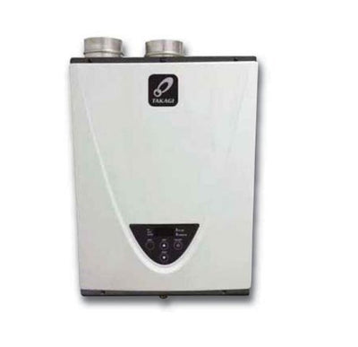Takagi T-H3S-DV-N Condensing High Efficiency Natural Gas Indoor Tankless Water Heater, 8-Gallon Per Minute