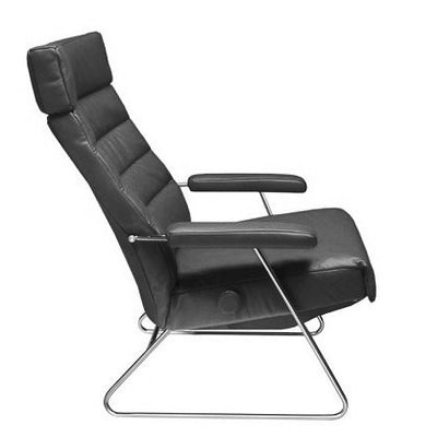 Lafer Adele Recliner Chair by (Anthracite Genuine Leather FCH414)