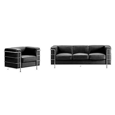 Zuo Fortress Sofa, Black