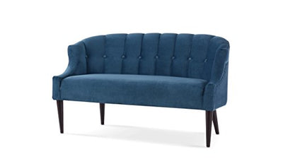 Jennifer Taylor Home Skylie Recessed Arm Tufted Back Settee Satin Teal