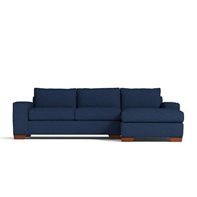 Apt2B Melrose 2-Piece Sectional Sofa, Navy, LAF - Chaise on Left
