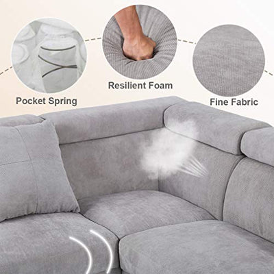 Corner Sofa,Sectional Sofa,Living Room Couch Sofa,Modern Sofa Futon Contemporary Upholstered Home Furniture (Style3)