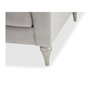 Aico Amini Melrose Plaza V Back Loveseat in Dove Grey