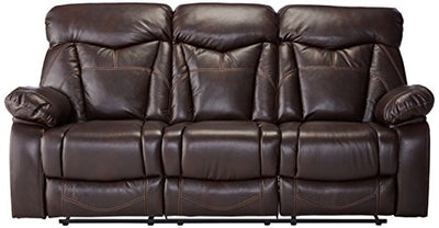 Coaster Zimmerman Casual Dark Brown Reclining Sofa with Pillow Arms