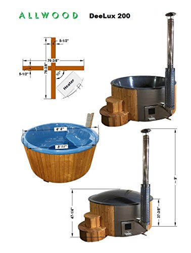 Allwood Wood fired hot tub model #200 DeeLux